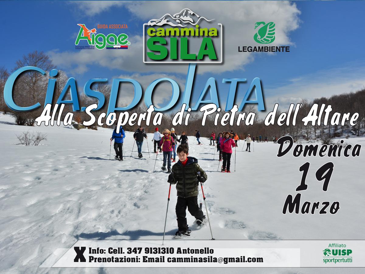 Eventi Sila 18/19 Marzo, Ciaspolata alla Scoperta di Pietra Dell'Altare